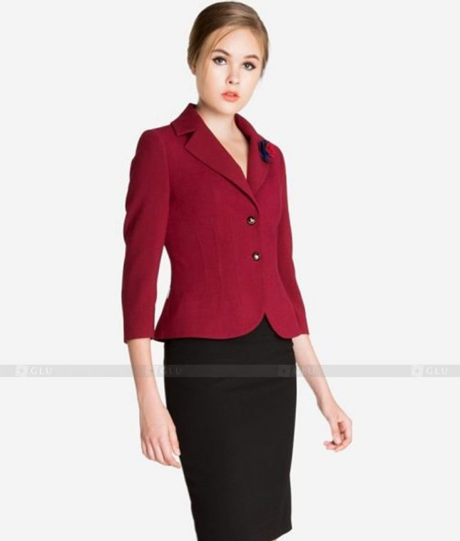 Ao Vest Dong Phuc Cong So GLU 420 áo sơ mi nữ đồng phục công sở