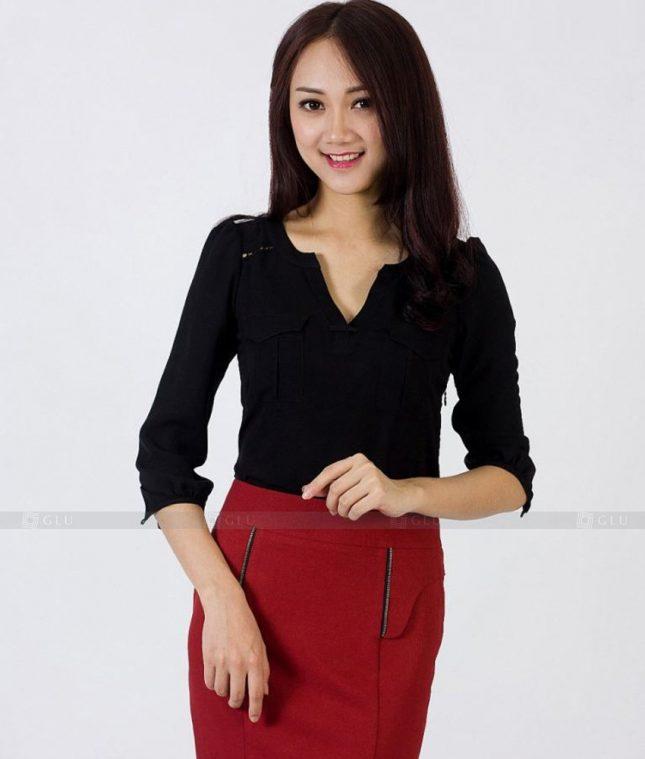 Ao Vest Dong Phuc Cong So GLU 425 áo sơ mi nữ đồng phục công sở