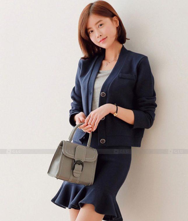 Ao Vest Dong Phuc Cong So GLU 427 áo sơ mi nữ đồng phục công sở