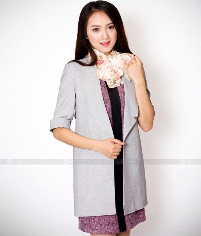 Ao Vest Dong Phuc Cong So GLU 438 áo sơ mi nữ đồng phục công sở