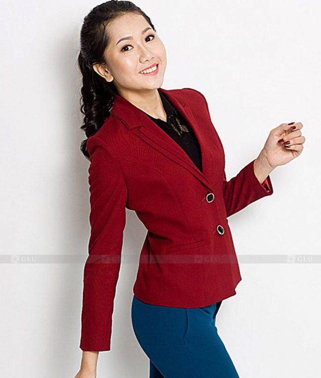 Ao Vest Dong Phuc Cong So GLU 441 áo sơ mi nữ đồng phục công sở