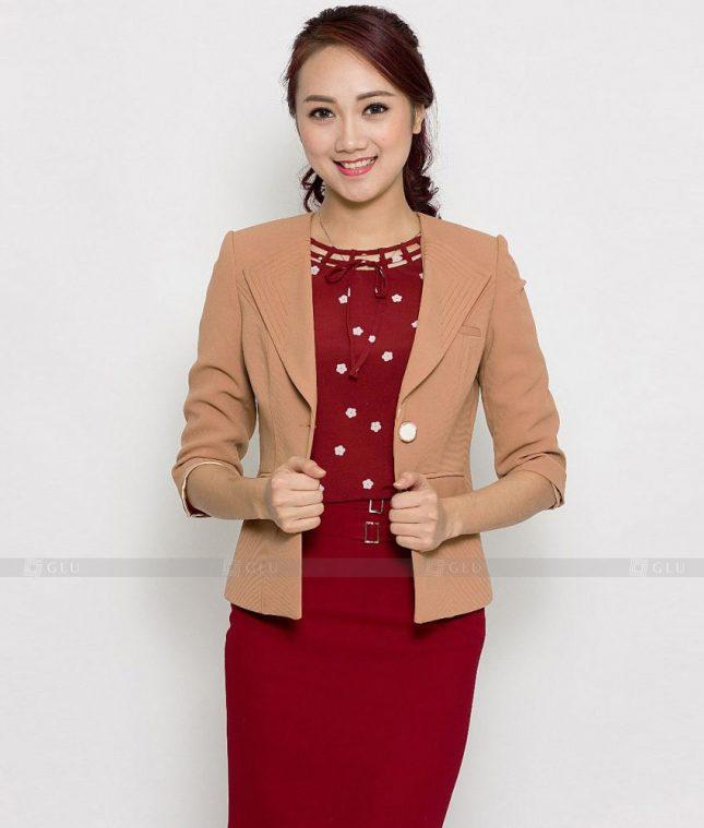 Ao Vest Dong Phuc Cong So GLU 443 áo sơ mi nữ đồng phục công sở