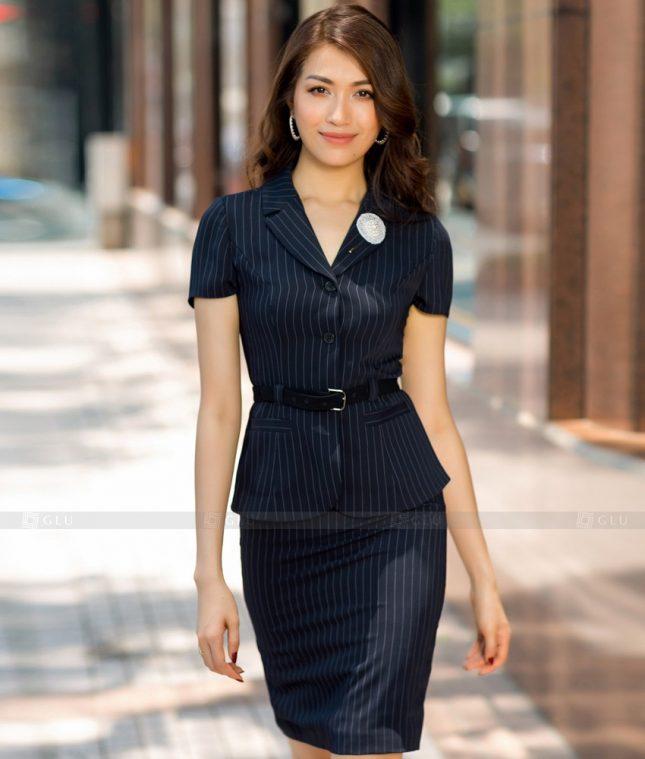 Ao Vest Dong Phuc Cong So GLU 447 áo sơ mi nữ đồng phục công sở
