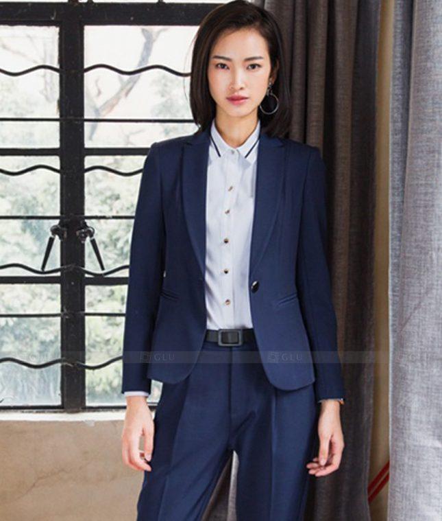 Ao Vest Dong Phuc Cong So GLU 450 áo sơ mi nữ đồng phục công sở