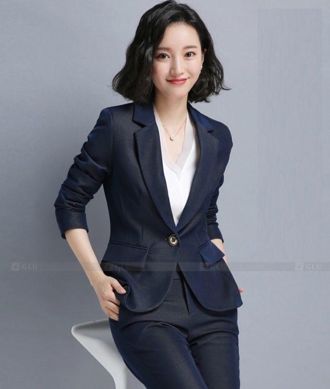Ao Vest Dong Phuc Cong So GLU 451 áo sơ mi nữ đồng phục công sở