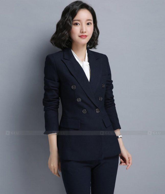 Ao Vest Dong Phuc Cong So GLU 452 áo sơ mi nữ đồng phục công sở