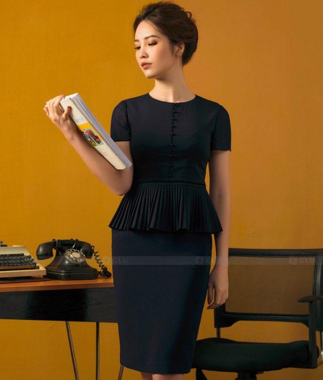 Ao Vest Dong Phuc Cong So GLU 454 áo sơ mi nữ đồng phục công sở