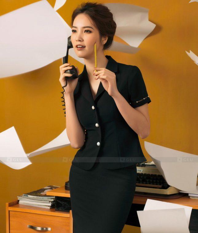 Ao Vest Dong Phuc Cong So GLU 455 áo sơ mi nữ đồng phục công sở