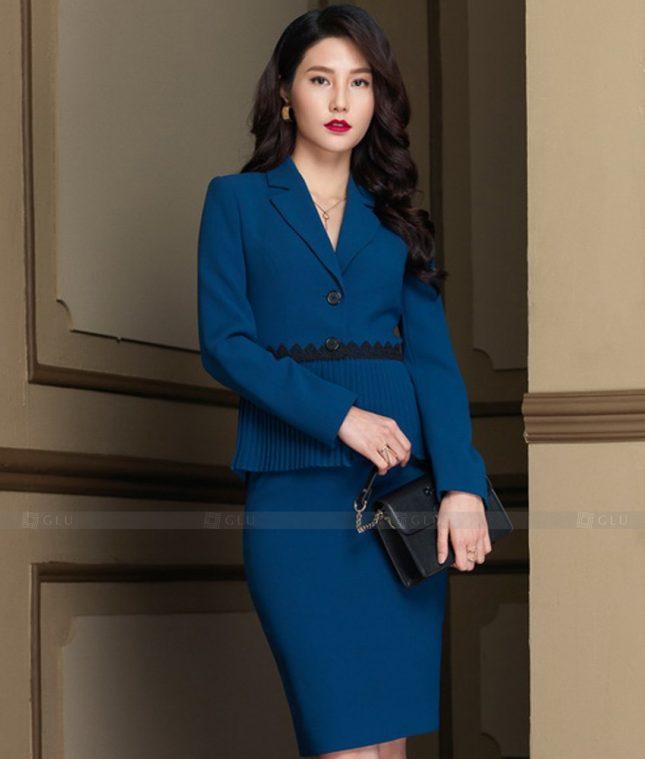 Ao Vest Dong Phuc Cong So GLU 456 áo sơ mi nữ đồng phục công sở