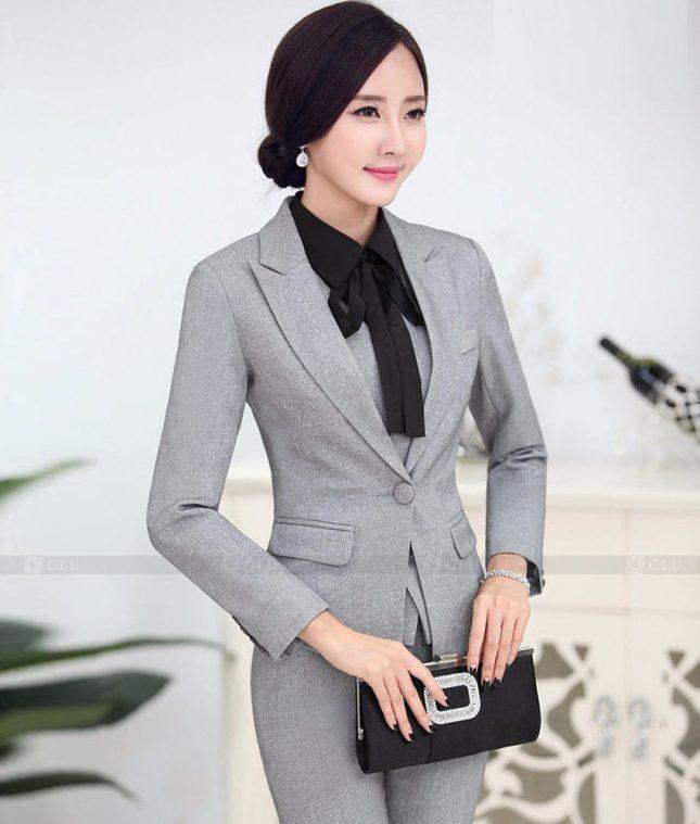 Ao Vest Dong Phuc Cong So GLU 457 áo sơ mi nữ đồng phục công sở