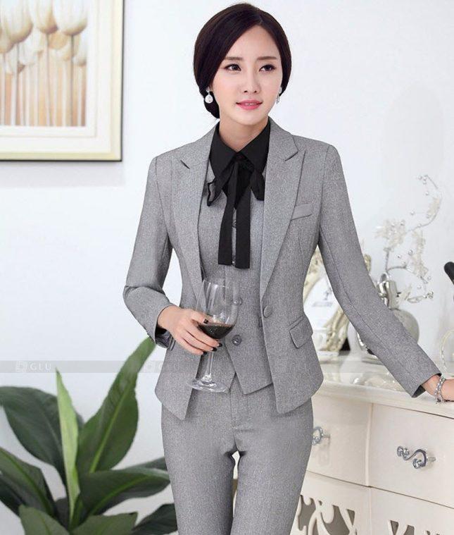 Ao Vest Dong Phuc Cong So GLU 458 áo sơ mi nữ đồng phục công sở