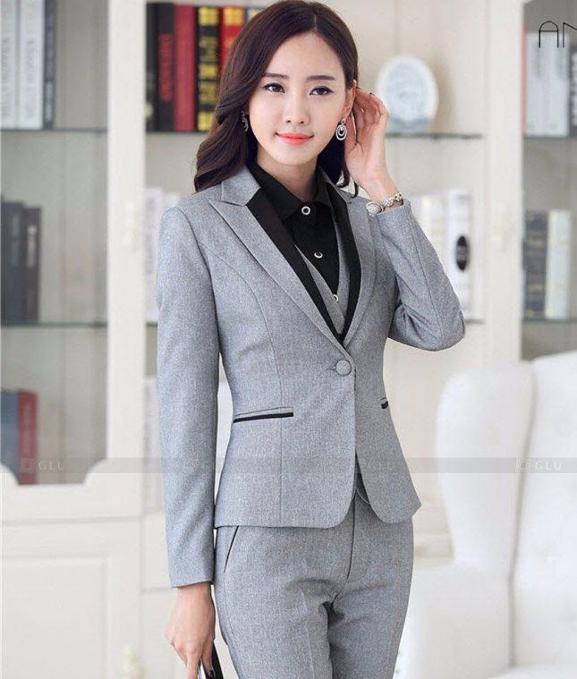 Ao Vest Dong Phuc Cong So GLU 460 áo sơ mi nữ đồng phục công sở