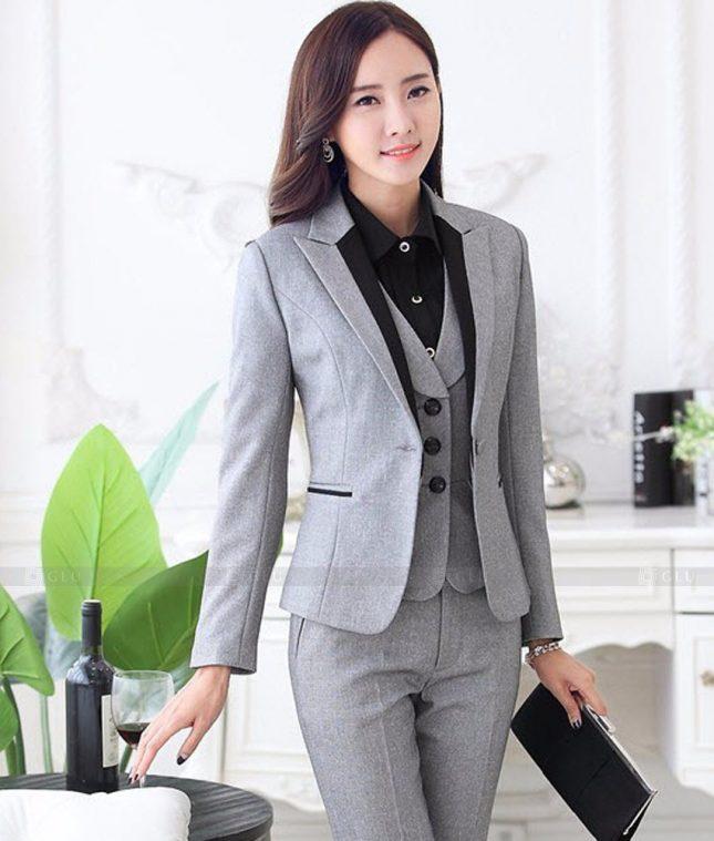 Ao Vest Dong Phuc Cong So GLU 461 áo sơ mi nữ đồng phục công sở