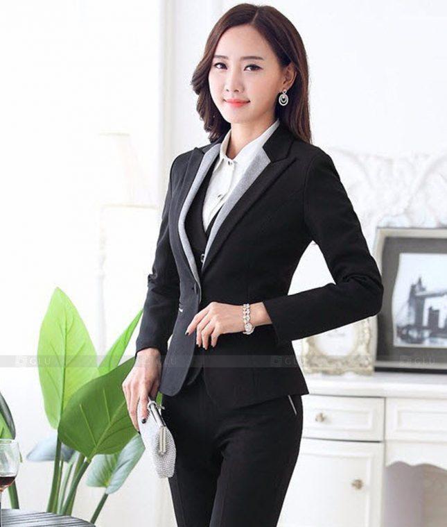 Ao Vest Dong Phuc Cong So GLU 462 áo sơ mi nữ đồng phục công sở