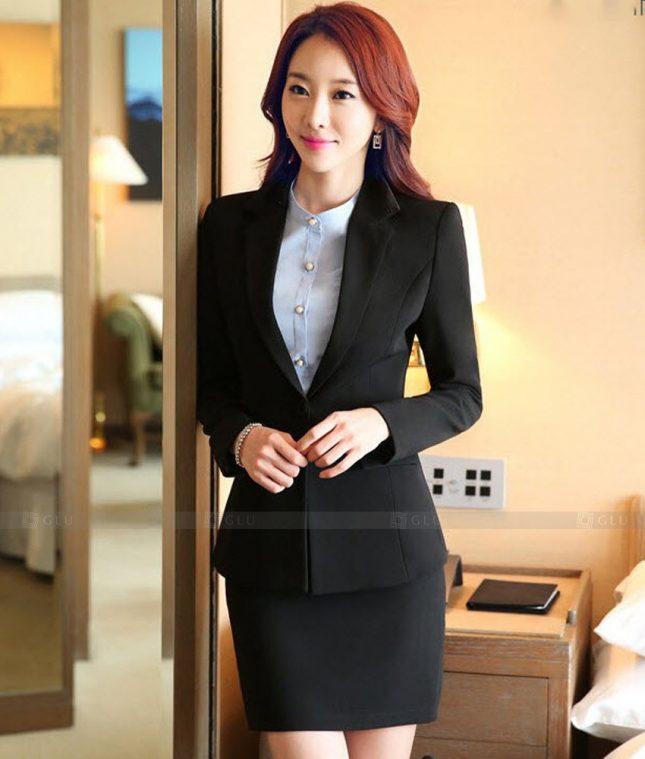 Ao Vest Dong Phuc Cong So GLU 464 áo sơ mi nữ đồng phục công sở