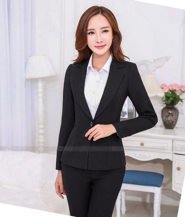 Ao Vest Dong Phuc Cong So GLU 467 áo sơ mi nữ đồng phục công sở