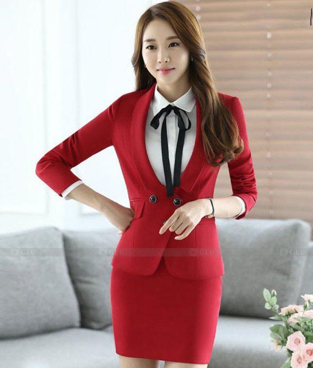 Ao Vest Dong Phuc Cong So GLU 468 áo sơ mi nữ đồng phục công sở