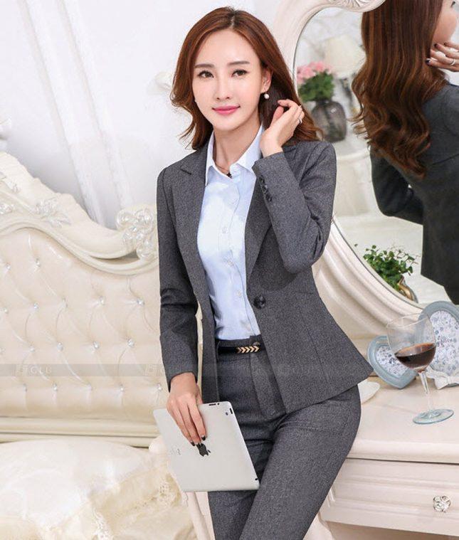Ao Vest Dong Phuc Cong So GLU 470 áo sơ mi nữ đồng phục công sở