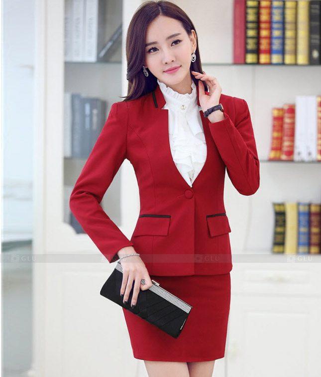Ao Vest Dong Phuc Cong So GLU 473 áo sơ mi nữ đồng phục công sở