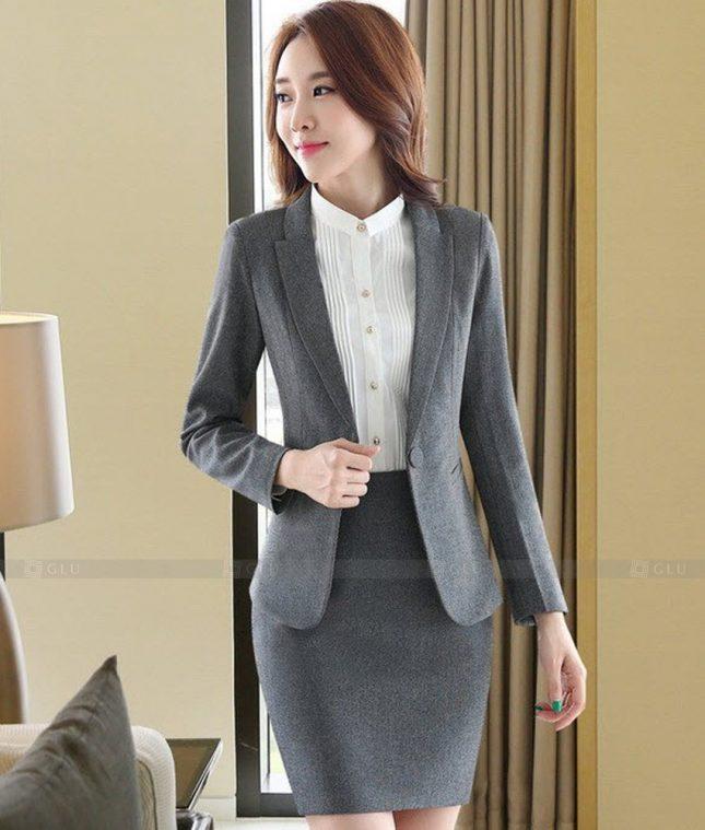 Ao Vest Dong Phuc Cong So GLU 477 áo sơ mi nữ đồng phục công sở