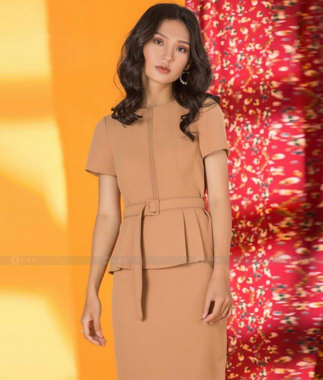 Ao Vest Dong Phuc Cong So GLU 478 áo sơ mi nữ đồng phục công sở