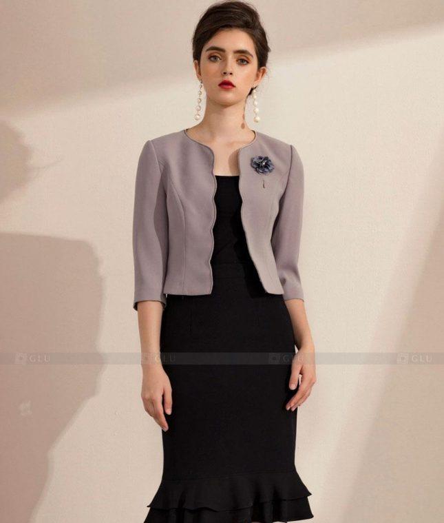 Ao Vest Dong Phuc Cong So GLU 481 áo sơ mi nữ đồng phục công sở