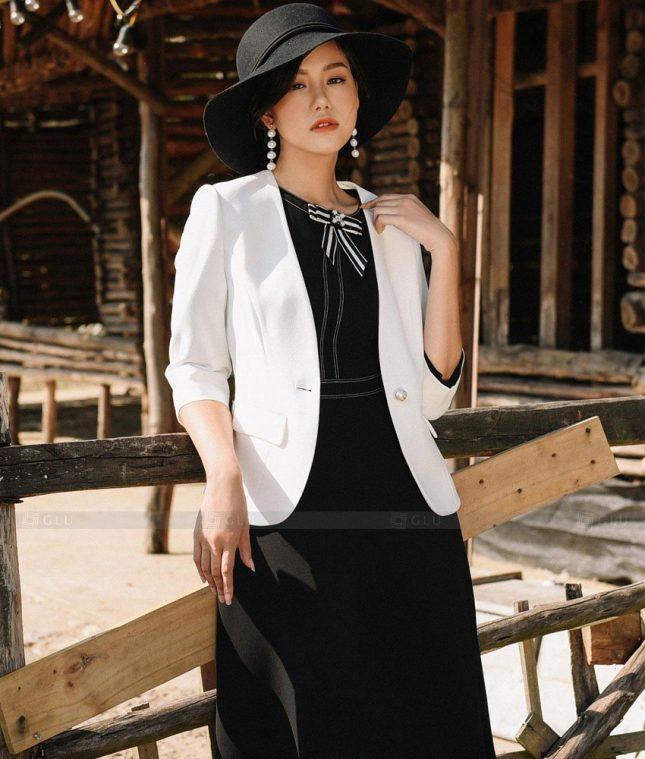 Ao Vest Dong Phuc Cong So GLU 485 áo sơ mi nữ đồng phục công sở