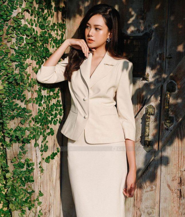 Ao Vest Dong Phuc Cong So GLU 494 áo sơ mi nữ đồng phục công sở