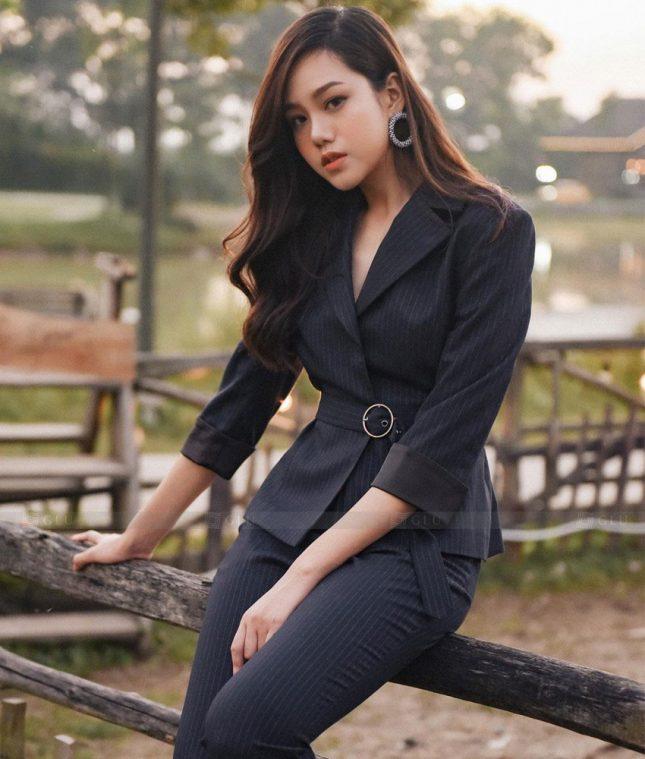 Ao Vest Dong Phuc Cong So GLU 495 áo sơ mi nữ đồng phục công sở