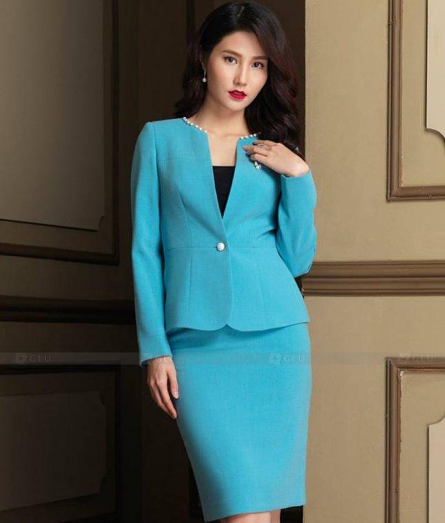 Ao Vest Dong Phuc Cong So GLU 496 áo sơ mi nữ đồng phục công sở