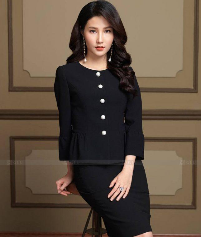 Ao Vest Dong Phuc Cong So GLU 497 áo sơ mi nữ đồng phục công sở