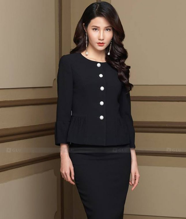 Ao Vest Dong Phuc Cong So GLU 498 áo sơ mi nữ đồng phục công sở
