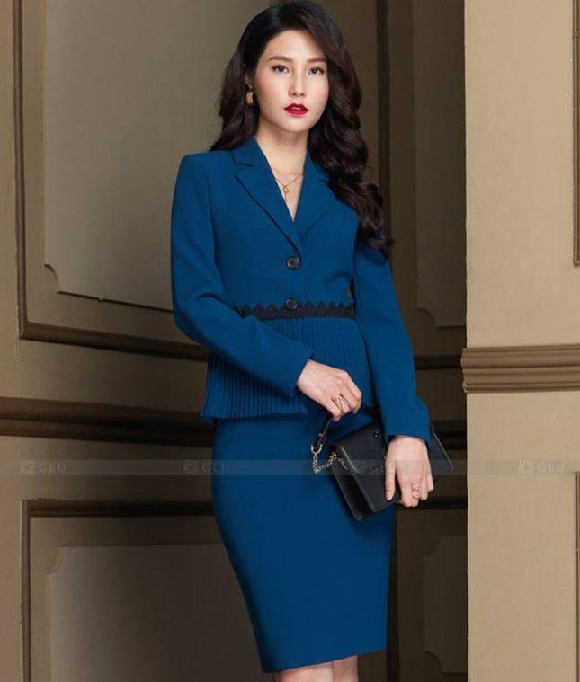 Ao Vest Dong Phuc Cong So GLU 499 áo sơ mi nữ đồng phục công sở