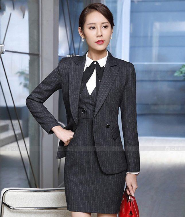 Ao Vest Dong Phuc Cong So GLU 508 áo sơ mi nữ đồng phục công sở