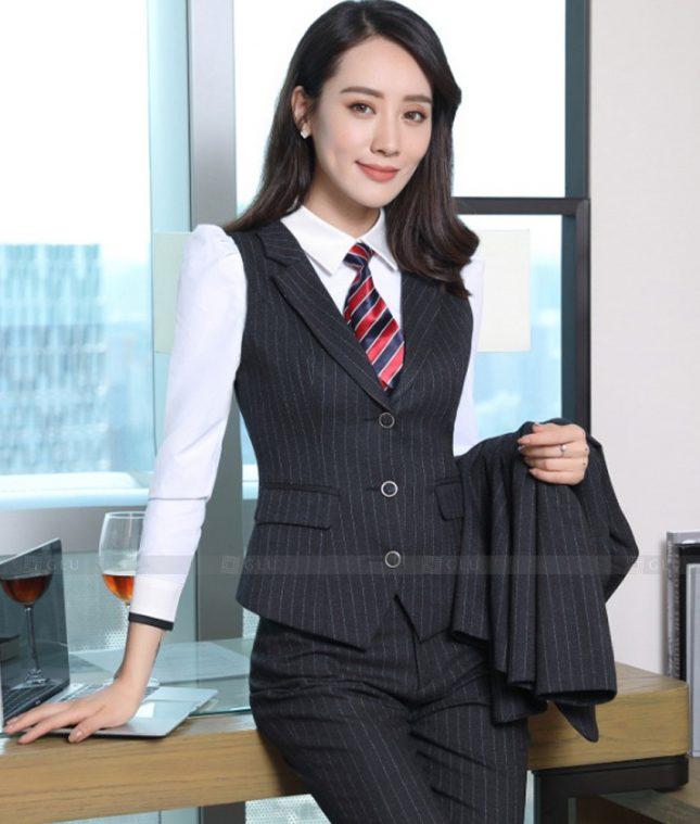 Ao Vest Dong Phuc Cong So GLU 511 áo sơ mi nữ đồng phục công sở