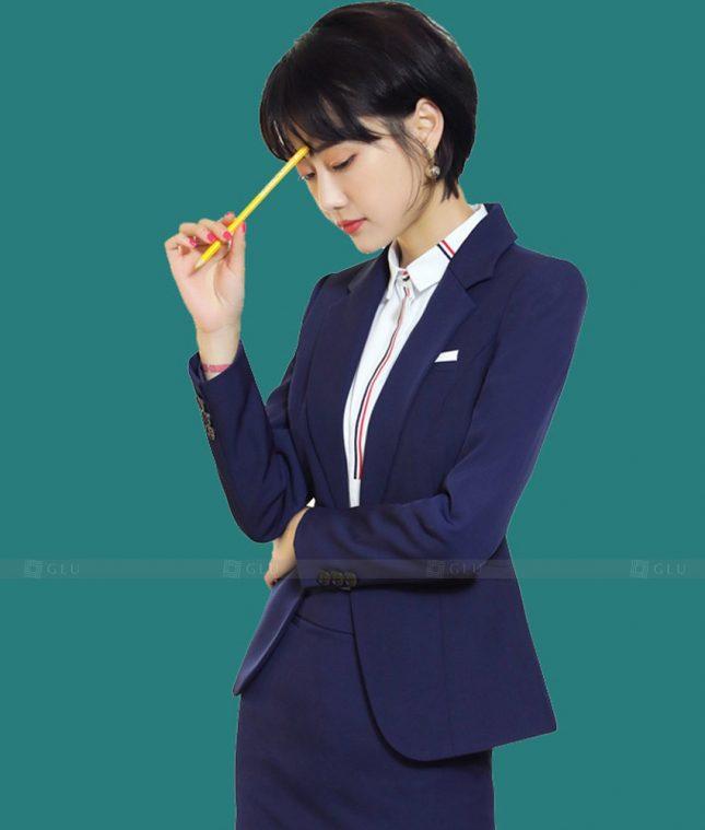 Ao Vest Dong Phuc Cong So GLU 512 áo sơ mi nữ đồng phục công sở