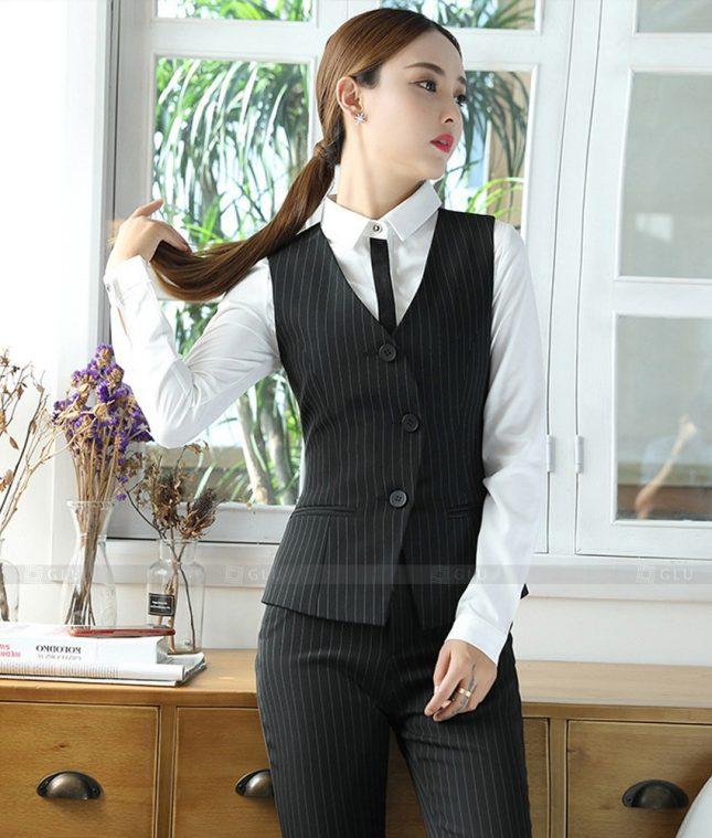 Ao Vest Dong Phuc Cong So GLU 513 áo sơ mi nữ đồng phục công sở