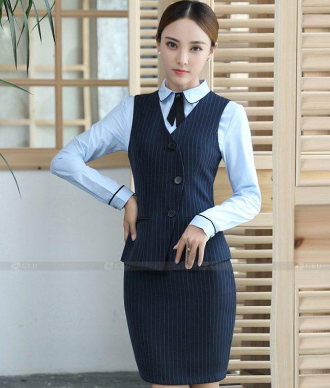 Ao Vest Dong Phuc Cong So GLU 515 áo sơ mi nữ đồng phục công sở