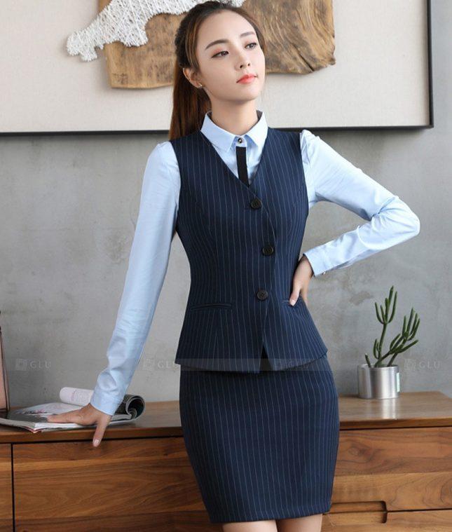 Ao Vest Dong Phuc Cong So GLU 516 áo sơ mi nữ đồng phục công sở