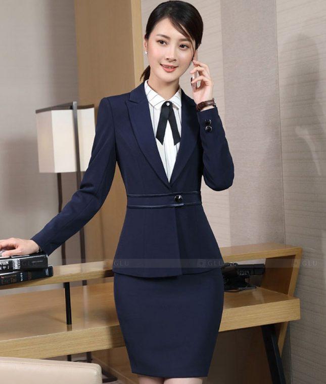 Ao Vest Dong Phuc Cong So GLU 518 áo sơ mi nữ đồng phục công sở
