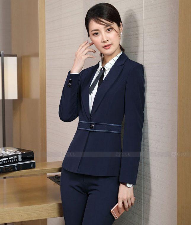 Ao Vest Dong Phuc Cong So GLU 519 áo sơ mi nữ đồng phục công sở