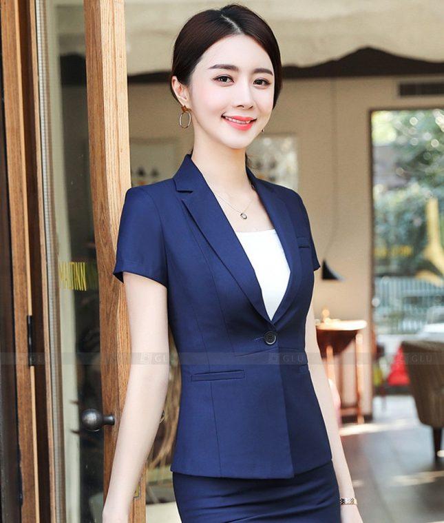 Ao Vest Dong Phuc Cong So GLU 521 áo sơ mi nữ đồng phục công sở
