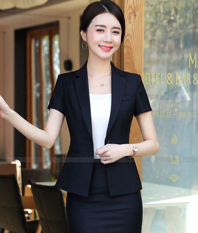 Ao Vest Dong Phuc Cong So GLU 522 áo sơ mi nữ đồng phục công sở