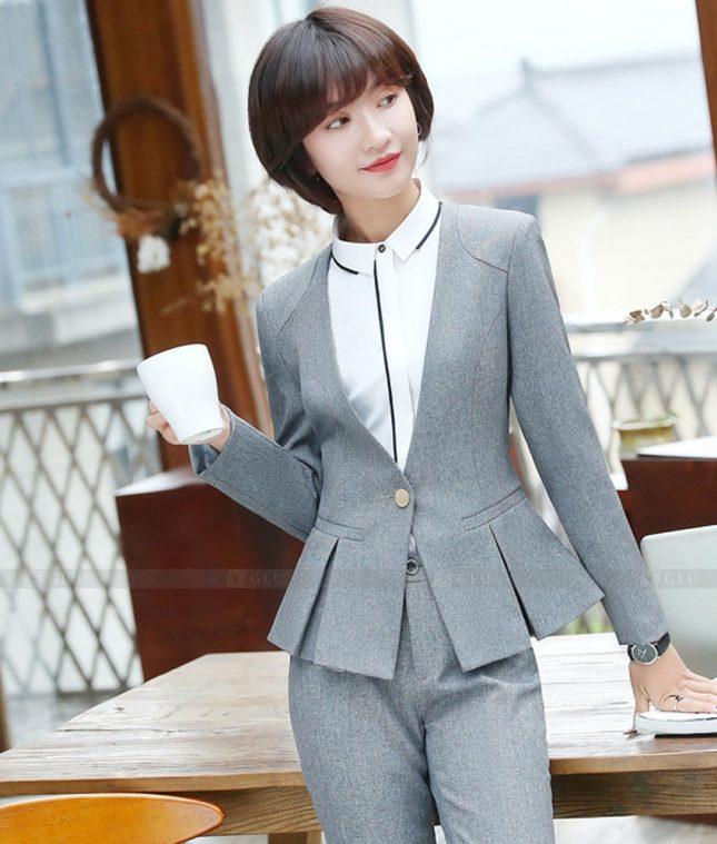 Ao Vest Dong Phuc Cong So GLU 523 áo sơ mi nữ đồng phục công sở