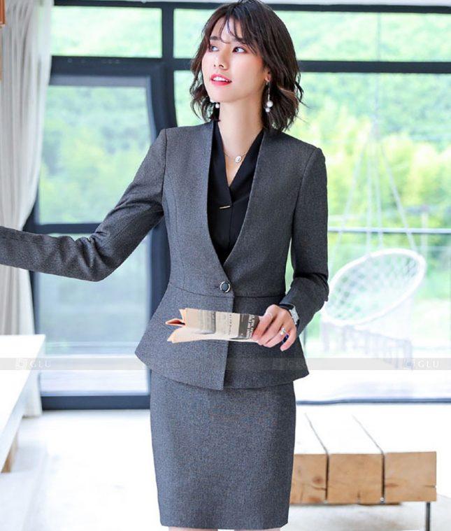 Ao Vest Dong Phuc Cong So GLU 524 áo sơ mi nữ đồng phục công sở
