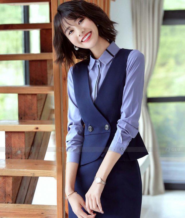 Ao Vest Dong Phuc Cong So GLU 527 áo sơ mi nữ đồng phục công sở
