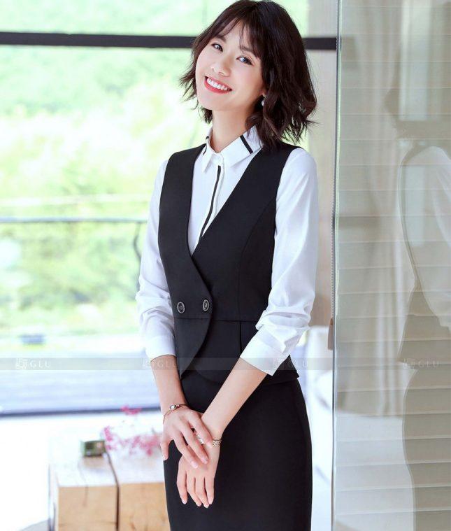 Ao Vest Dong Phuc Cong So GLU 528 áo sơ mi nữ đồng phục công sở