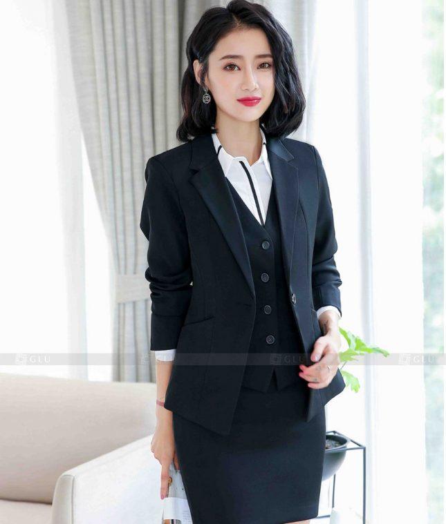 Ao Vest Dong Phuc Cong So GLU 529 áo sơ mi nữ đồng phục công sở
