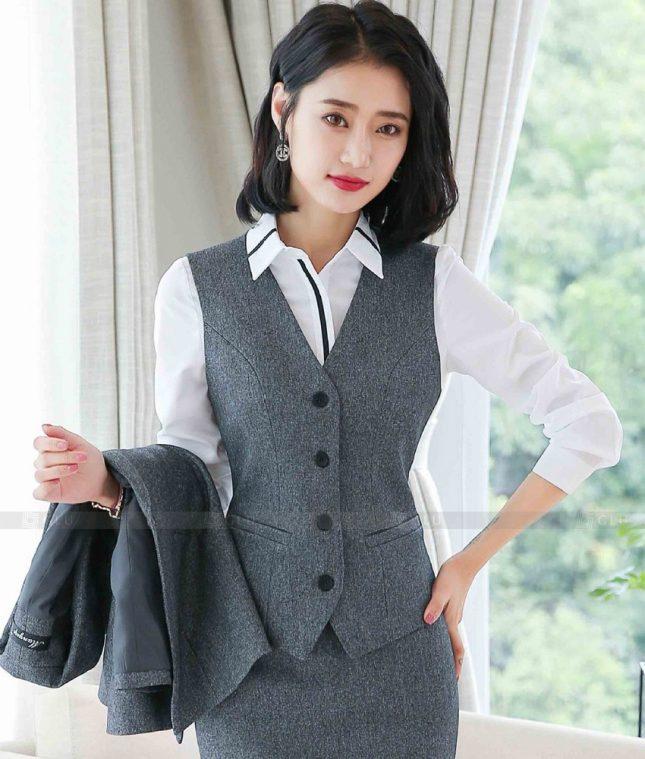 Ao Vest Dong Phuc Cong So GLU 530 áo sơ mi nữ đồng phục công sở