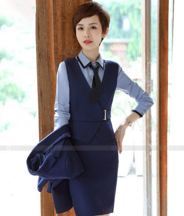 Ao Vest Dong Phuc Cong So GLU 531 áo sơ mi nữ đồng phục công sở